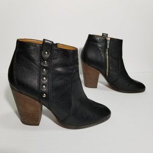 Coach Black Leather Studded Haven Ankle Boots